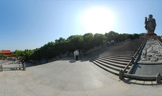 360 panoramic photo of Lingshan Scenic Area