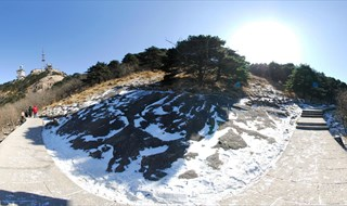 Mount Huangshan Mountain scenic 360 panoramic phot