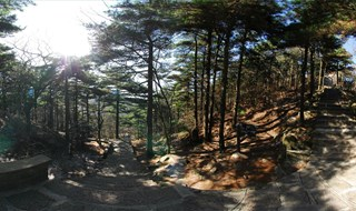 Mount Huangshan Mountain scenic Panorama view