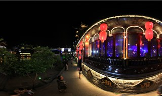 Night view of Fenghuang 360 virtual panorama