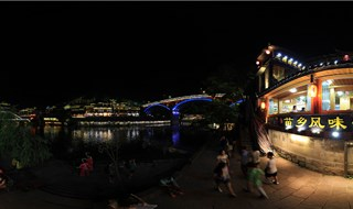 Night view of Fenghuang Panoramic tour