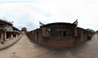 Panorama view of East Gate to North Gate Wall