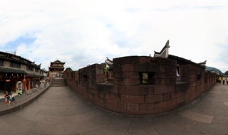 Panoramic view of East Gate to North Gate Wall