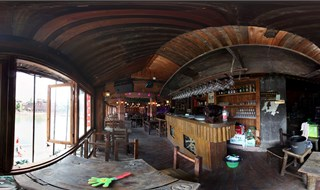 Watchmen of Ancient Town bar Panorama view