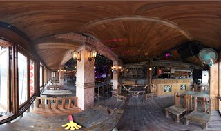 Watchmen of Ancient Town bar Panoramic view
