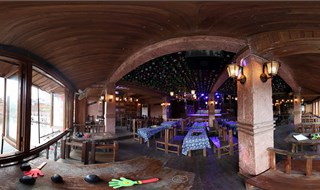Watchmen of Ancient Town bar 360 panoramic view