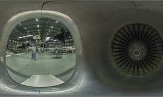 From inside a jet engine