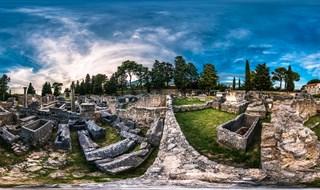 The ruins of Salona at Archaeological Museum of Split