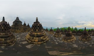 Borobudur Temple Sunrise View.