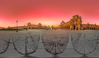Sunrise at Louvre, 2014.