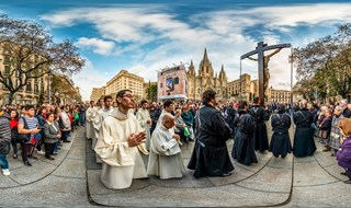 Good Friday procession in Barcelina