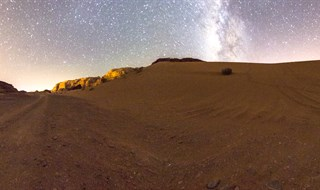 Milky way at wadi rum