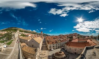 Pile and Stradun from City Walls, Dubrovnik, 2015.