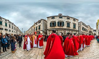 Procession on the Feast of Saint Blaise, Dubrovnik, 2016..