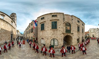 Musketeers of Dubrovnik on Saint Blaise of Gorica, Dubrovnik, 2016.
