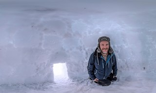 Me My Self and I in a Igloo