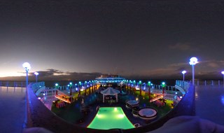 Upper Deck at night on Groove Cruise 2016