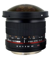 Rokinon 8mm f/3.5 HD Fisheye Lens