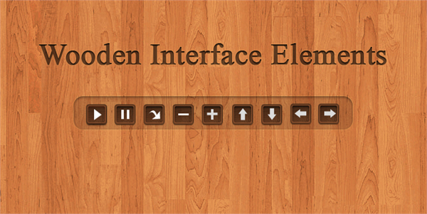 Wooden Interface Elements