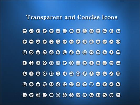 Transparent and Concise Icons