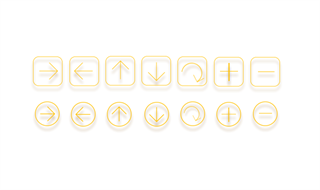 Concise linear icons