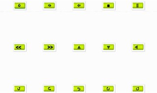 20 Small Lime Green Navigation Icons - Light and D