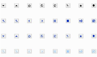 16 Transparent Icons in 3 Colors