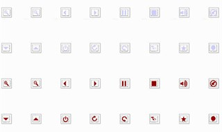 16 Transparent Icons in 4 colors