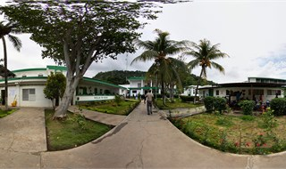 Courtyard of Hopital Sacre Coeur in Milot, Haiti