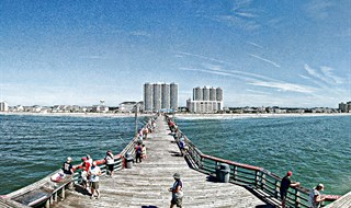 The cherry grove pier at north myrtle beach sc usa for North myrtle beach fishing pier