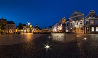 Cottbus at the blue hour