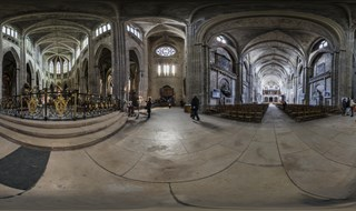 Bordeaux Cathedral indoor panorama