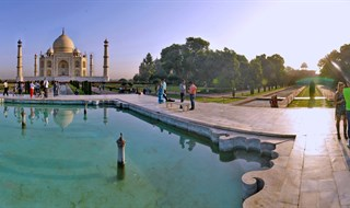 360 Taj Mahal Agra water shadow by www.lifeexpression.in (ravi sethi )