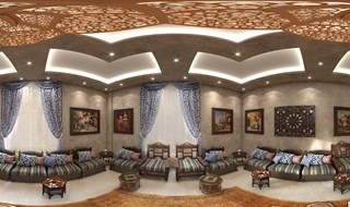 Mr Hassan Dahlab's Majles Room Panorama