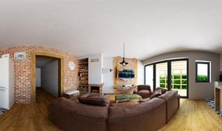 Projekt Salonu Z Kuchnia Glogow Zarkow Indoor Panoramic Image
