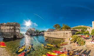 Kayak beach, Dubrovnik, 2016.
