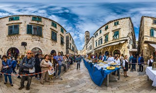 Beginning of Good Food Festival, Dubrovnik, 2016.