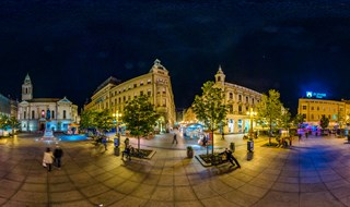 Cvijetni square at night, Zagreb, Croatia, 2016.