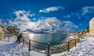 Snowy View from Excelsior, Dubrovnik, Croatia, 2017.