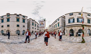 Musketeers of Dubrovnik on Placa, Dubrovnik, Croatia, 2017.