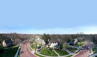 Aerial 360 Pano of Affluent Pittsburgh Suburb