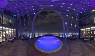 The Torch Doha Cantilevered Swimming Pool