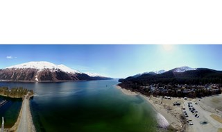 Awesome Sunny Day in Juneau Alaska, Mavic Drone Pano