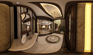 Interior Design for Reception Villa . 360 panorama