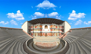 3D model of Theatre in Narona, Vid