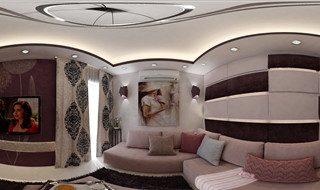 Modern Living Room designed by Ahmed Sarhan - 01014702005