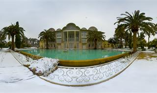 Eram garden in winter
