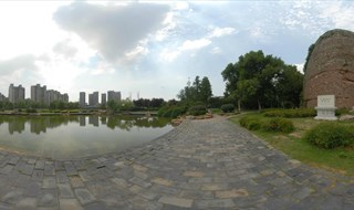 Panorama view of Stone City Qinhuai River Painting
