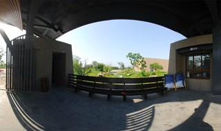 hong mountain ruins museum 360 panoramic photo