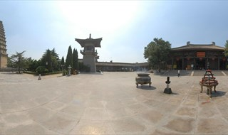 Famen Temple Panoramic view